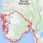Norwegen-Route gesamt